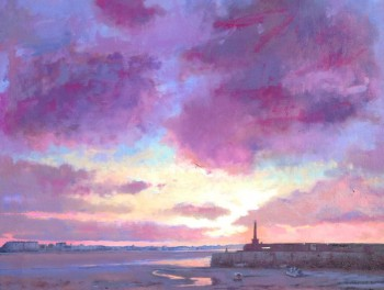 Margate Harbour – Rainbow Sky