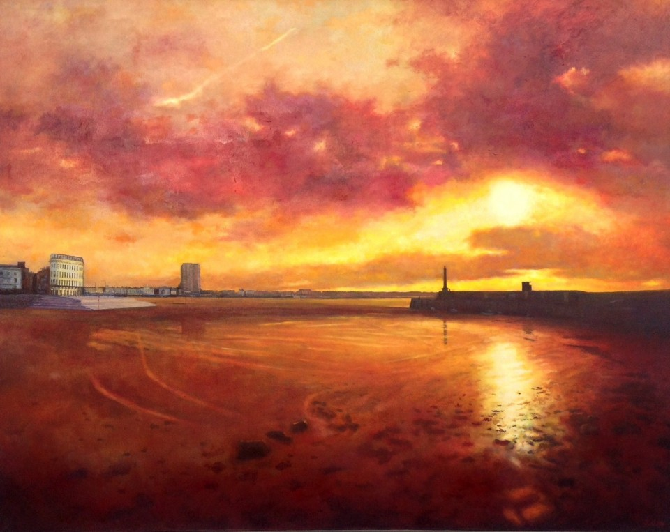 Margate Harbour – Red Sky