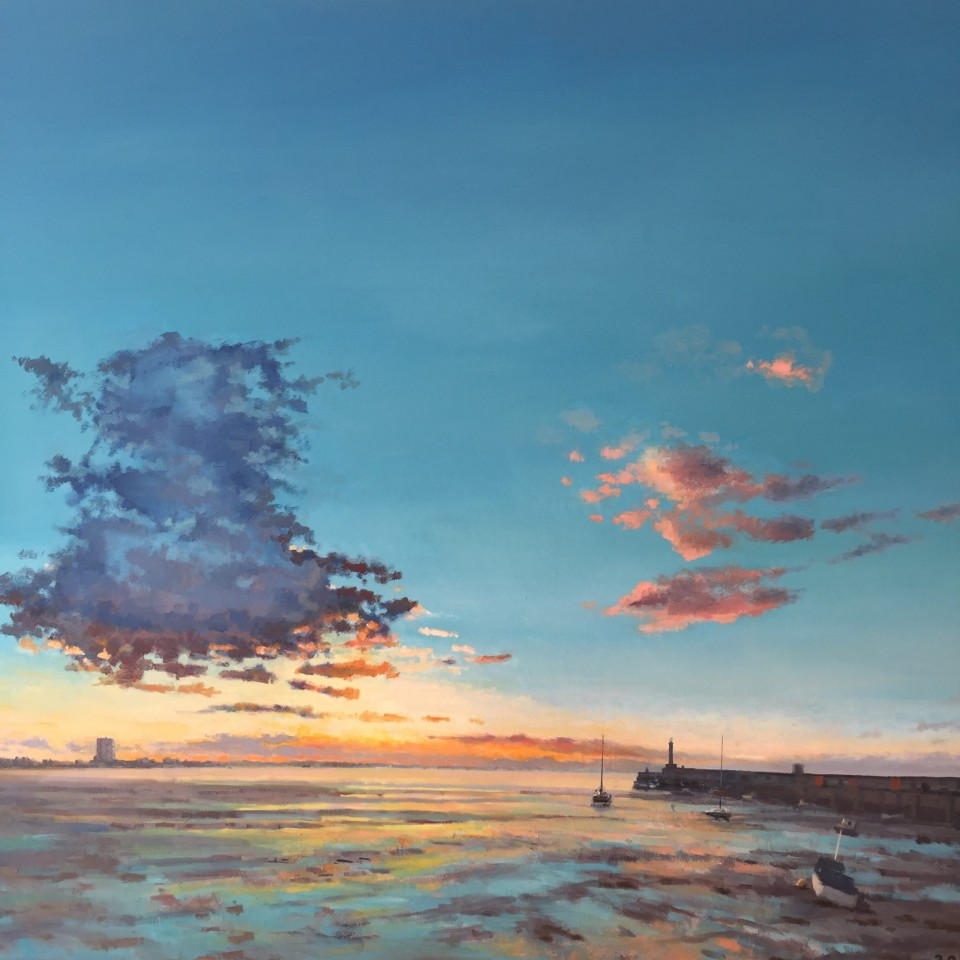 Margate Harbour (Blue Cloud) 80cm x 80cm £750