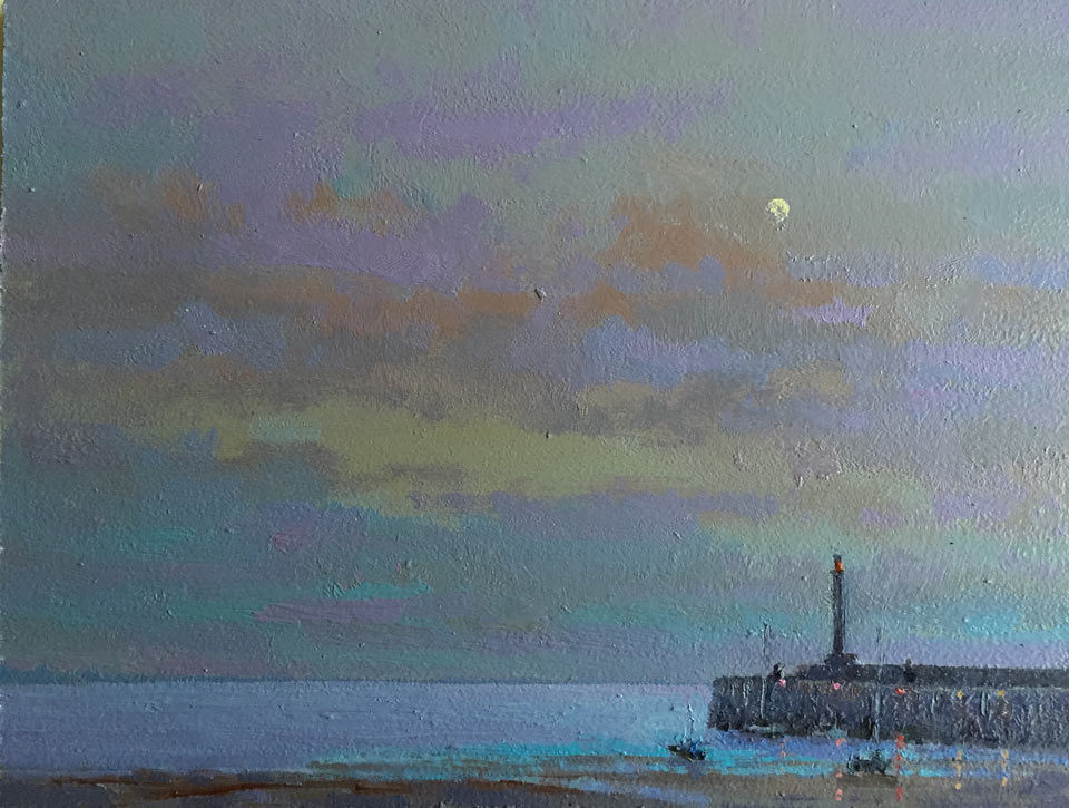 Margate-Harbour Moonlight