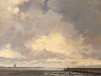 Margate Harbour – Grey Clouds