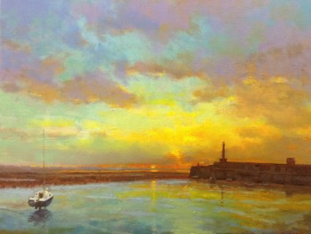 Margate Harbour – Sunset with Boat