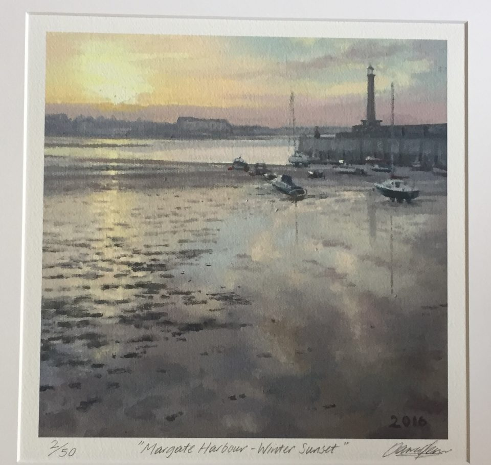 margate-harbour-winter-sunset1-27cm-x-27cm
