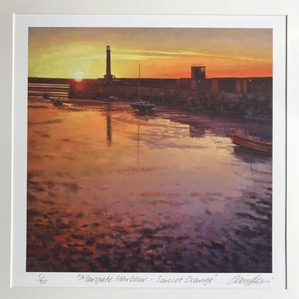 Margate Harbour – Orange Sunset