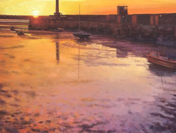 Margate Harbour – Sunset Orange