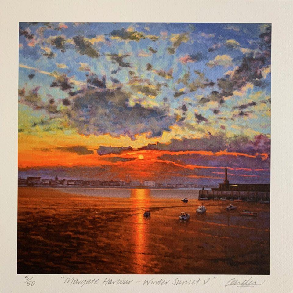 Margate Harbour – Winter Sunset V