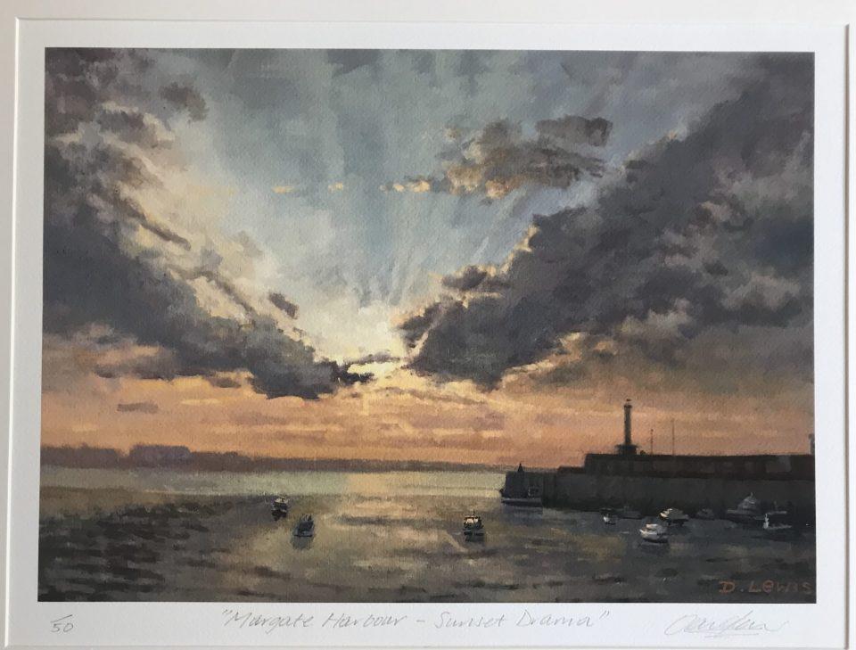 Margate Harbour – Sunset Drama