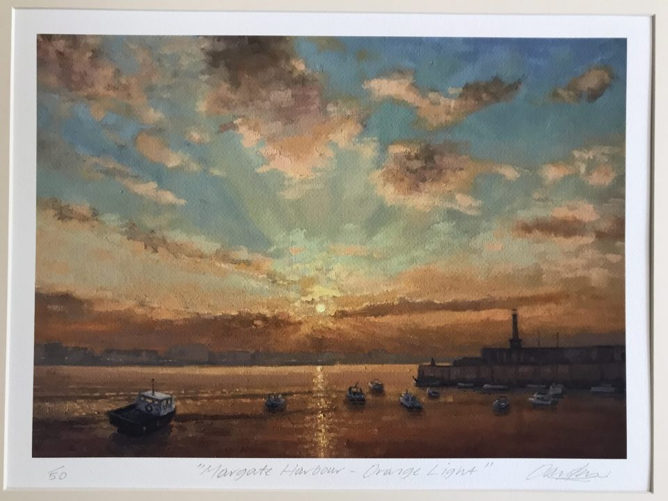 Margate Harbour – Orange Light