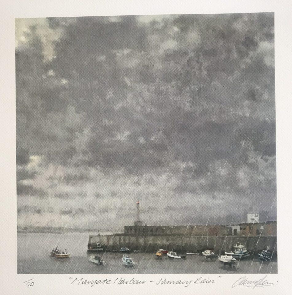 Margate Harbour – January Rain