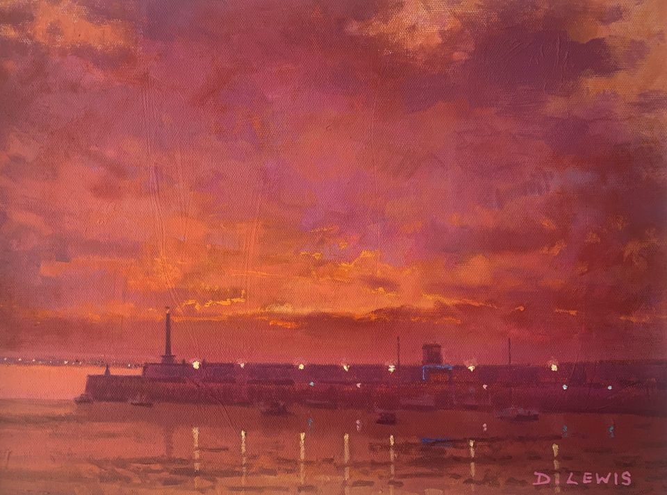 Margate Harbour – Purple and Orange