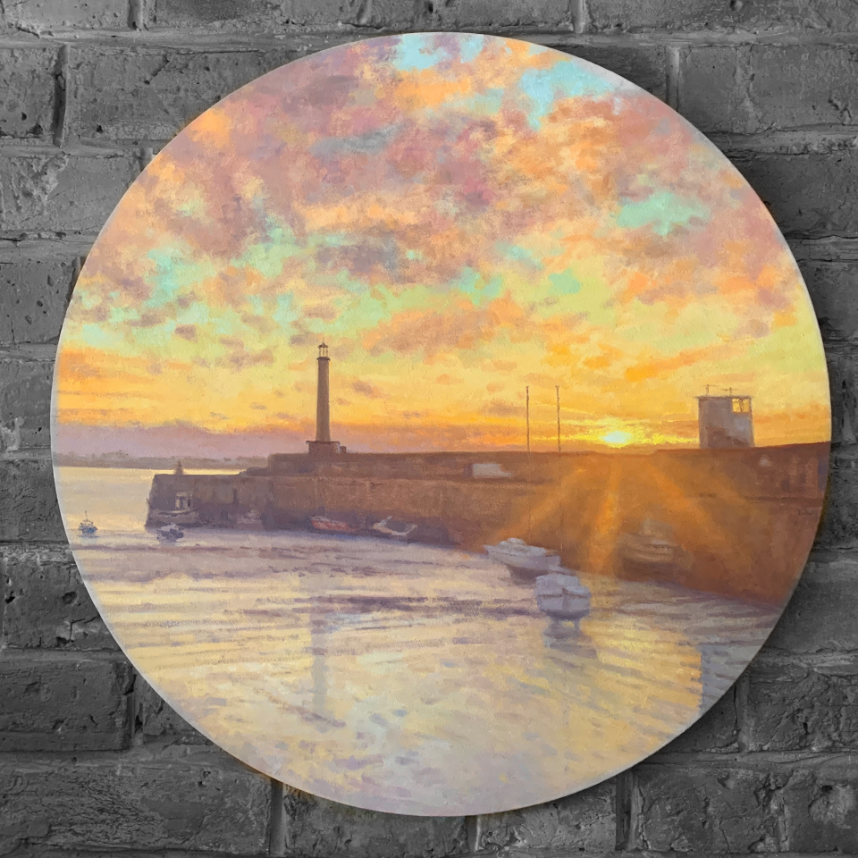 Margate Harbour – March Sunset (round)