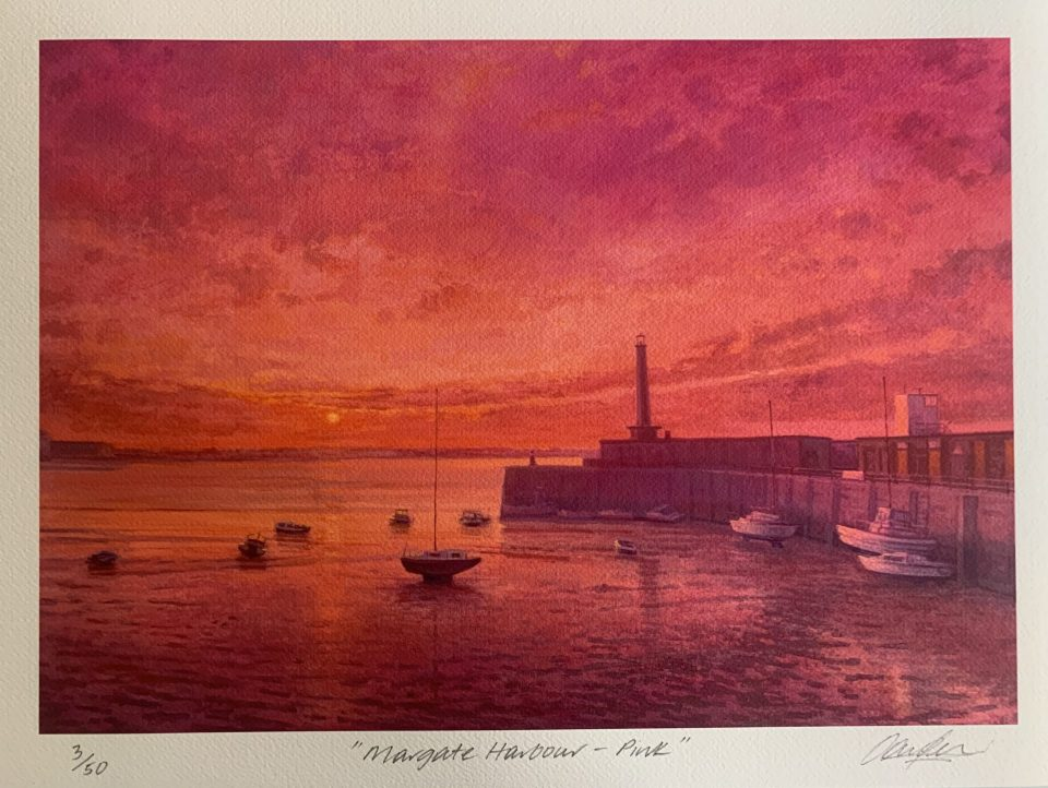 Margate Harbour – Pink