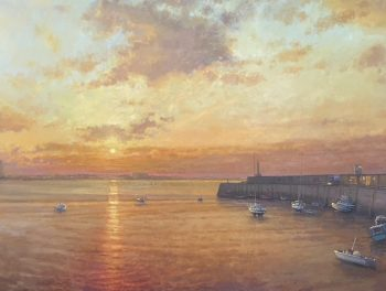 Margate Harbour – Yellow Sunset